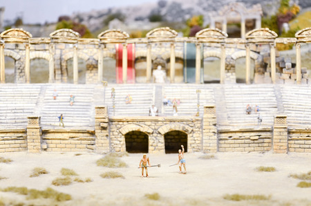 Diorama Of Gladiators