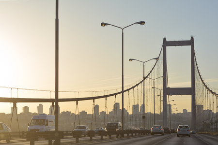 koprusu: Bosphorus Bridge, Istanbul, Turkey Stock Photo