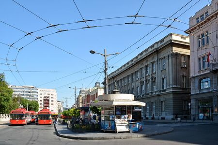 serbia: Electric Trolleybuses at Belgrade Serbia Editorial