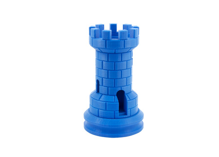 blue prints: 3D Printed Model Of A Castle