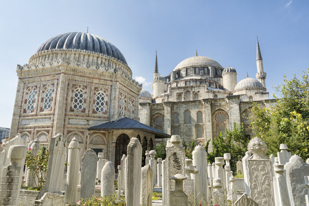 istanbul: Sehzade Mosque and Tomb Of Sehzade Mehmed Istanbul Turkey Stock Photo