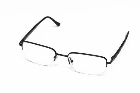 nearsighted: Eyeglasses Isolated On White Background Stock Photo