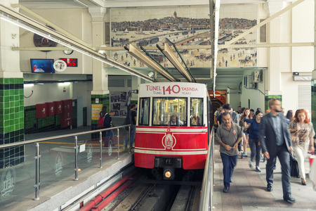 tunel: Beyoglu Tunel Station Istanbul Turkey Editorial