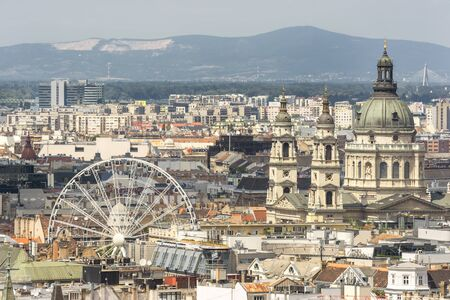 ferriswheel: Aerial View Of Budapest,Hungary