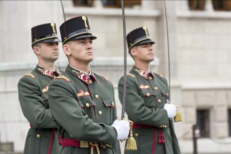 hungary: Parliament Guard, Budapest, Hungary