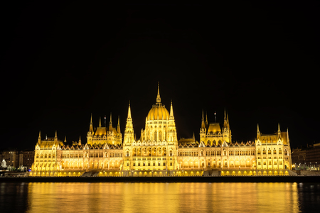 parliament building: Hungarian Parliament Building, Budapest, Hungary Stock Photo