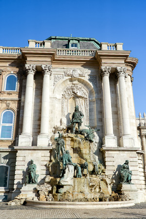 matthias: Matthias Fountain Inside Buda Castle, Budapest, Hungary