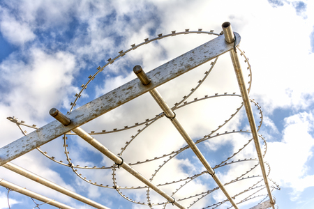 barb wire: Barb Wire Fence
