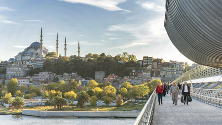 koprusu: Halic Metro Bridge, Istanbul, Turkey