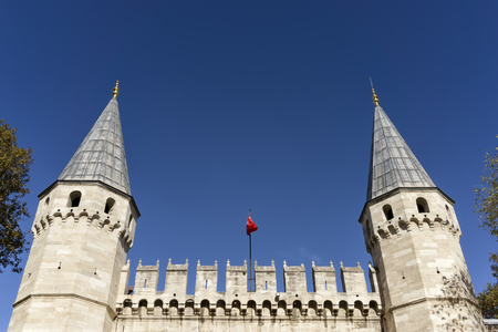 salutation: Towers Of The Gate of Salutation ,Topkapi Palace Entrance, Istanbul, Turkey