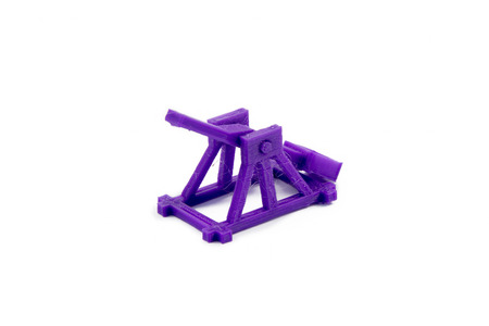 catapult: 3d Printed Model Of A Medieval Catapult Isolated On White Background