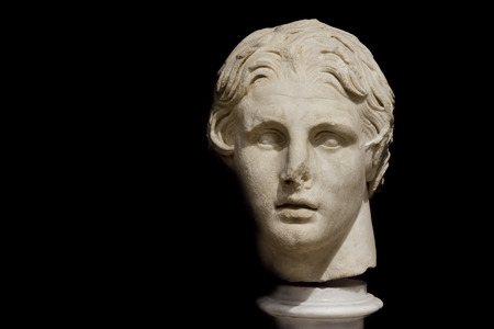alexander the great: Bust Of Alexander The Great at Istanbul Archeology Museum, Turkey Editorial