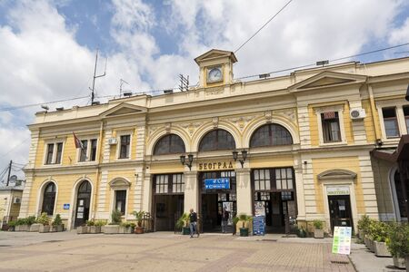 estacion de tren: La estaci�n de tren de Belgrado, Serbia