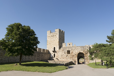 the medieval: Despots Gate And Tower Inside Belgrade Fortress Complex, Serbia