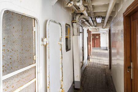 passenger ship: Corridor Of An Old Passenger Ship