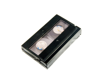 videotape: Old Video Cassette Isolated On White Background Stock Photo