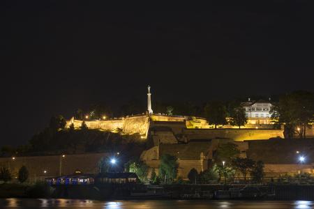 belgrade: Belgrade Fortress At Night, Belgrade, Serbia