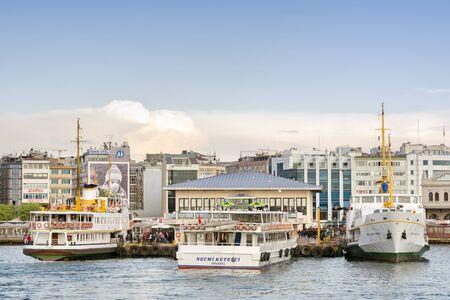 ferries: Sehir Hatlari ferries docked at Kadikoy Pier, Istanbul, Turkey