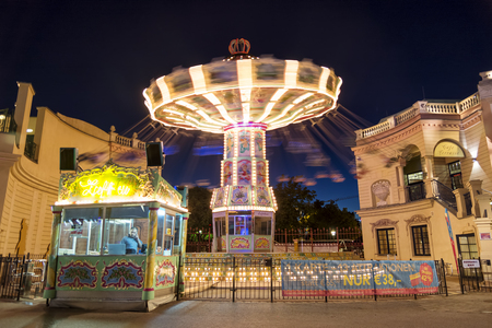 chairoplane: Night shot from The Wurstelprater, Vienna, Austria