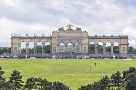 gloriette: Gloriette Inside Schonbrunn Palace, Vienna, Austria