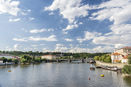 manes: Vltava river and (Josef) Manes Bridge, Prague, Czech Republic