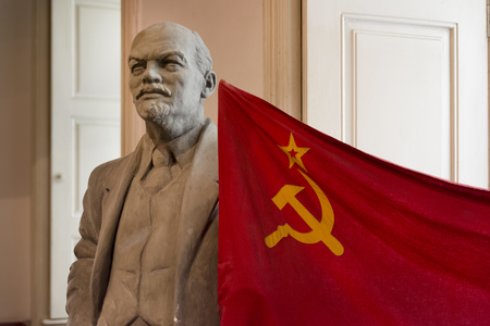 communism: Statue of Vladimir Lenin, Museum of Communism, Prague, Czech Republic