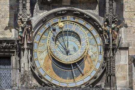 Astronomical Dial of Prague Astronomical Clock, Czech Republic Stock Photo