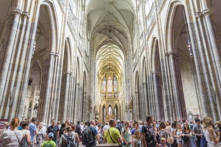 interior shot: Interior shot from St. Vitus Cathedral, Prague, Czech Republic