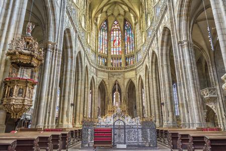 vitus: Interior detail from St. Vitus Cathedral,Prague, Czech Republic