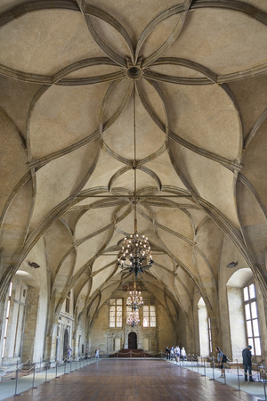 Das Innere der Wladislaw-Saal, der Prager Burg, der Tschechischen Republik