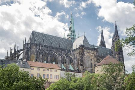 vitus: St. Vitus Cathedral Inside Prague Castle Complex, Czech Republic