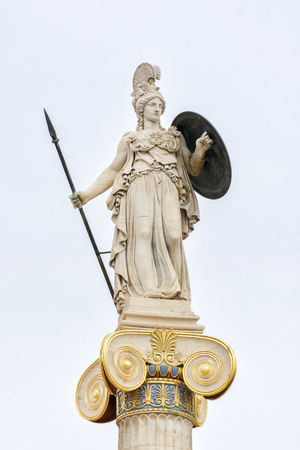 athena: Statue Of Athena at Academy of Athens, Greece Editorial