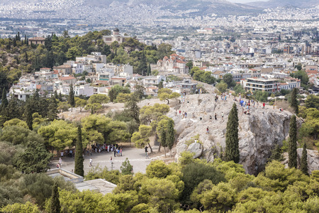 nymphs: Nymphs Hill in Thissio, Athens, Greece Stock Photo