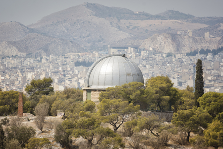 nymphs: Building Observatory at the Nymphs Hill in Thissio, Athens, Greece