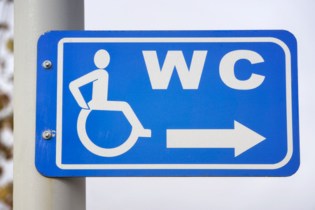 signboard: Signboard for disabled Toilet