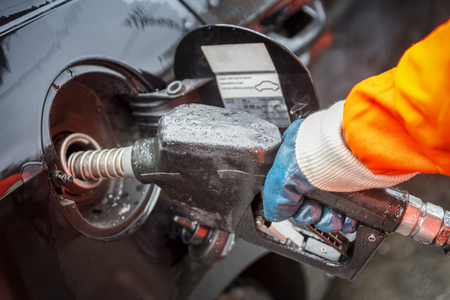 refilling: Automobile fuel refilling Stock Photo