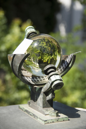 Sun Sphere On Metal Pedestal