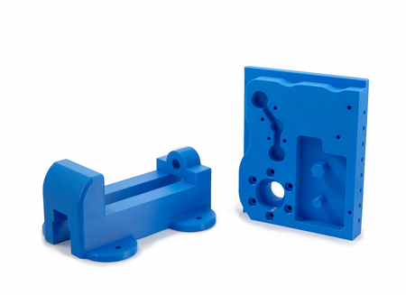 machine parts: Industrial Machine Parts Printed With 3D Printer Stock Photo