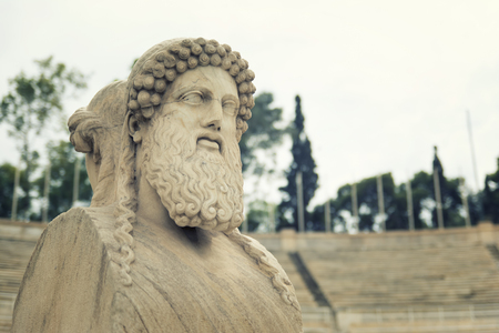 Herm Statue At Panathenaic Stadium, Athens, Greece