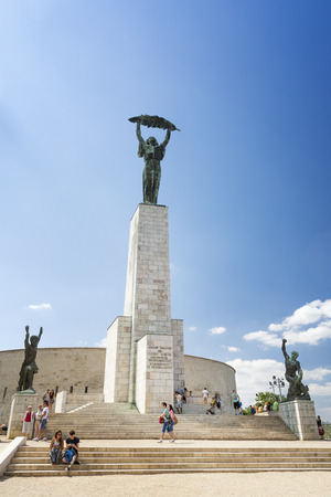 Liberty Statue, a monument on the Gellert Hill , commemorates those who sacrificed their lives for the independence, freedom, and prosperity of Hungary. Hungary, Budapest