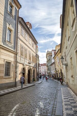 People walking at the old town area of Prague, a medieval settlement of Prague, Czech Republic. Editorial
