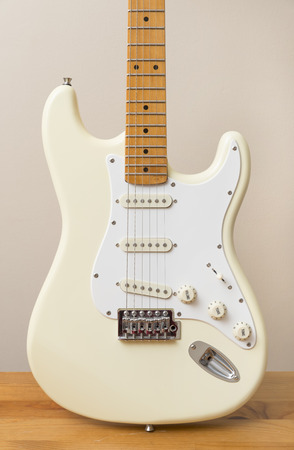 White Vintage Electric Guitar