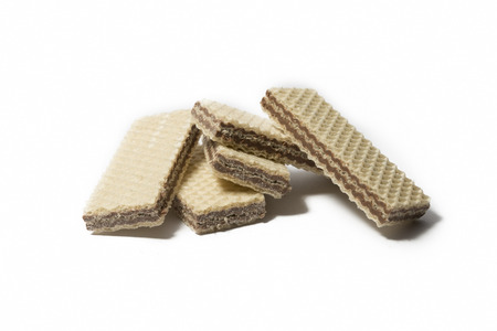 Chocolate Wafers Isolated On White Background Stock Photo