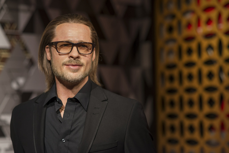 Wax sculpture of Brad Pitt at Madame Tussauds Istanbul. Brad Pitt is an American actor and producer.