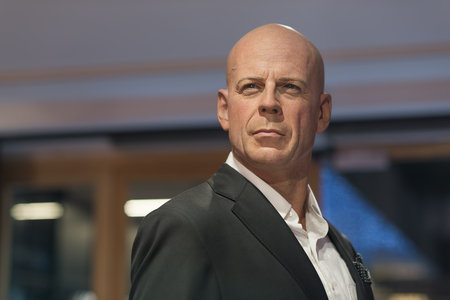 Wax sculpture of Bruce Willis at Madame Tussauds Istanbul. Bruce Willis is an American actor, producer, and singer. Editorial