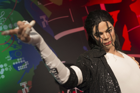 Wax sculpture of Michael Jackson at Madame Tussauds Istanbul. Michael Jackson who died on June 25, 2009 was an American singer, songwriter, and dancer.