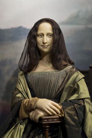 Wax figure of Mona Lisa (La Gioconda) on display at Madame Tussauds Istanbul.