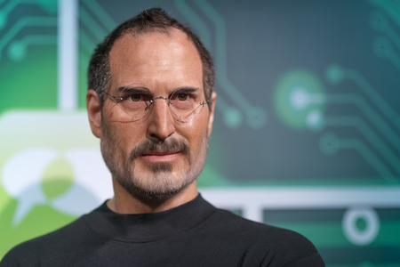 Wax sculpture of Steve Jobs at Madame Tussauds Istanbul. Steve Jobs who died on October 5, 2011 was the CEO and co-founder of Apple Inc.
