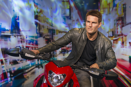 Wax sculture of Tom Cruise at Madame Tussauds Museum Istanbul. Tom Cruise is an American actor and producer.