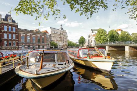Tour Boats Docked, Amsterdam, Netherlands